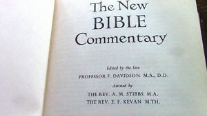 The New Bible Commentary, Davidson, Stubbs, Kevan, 1963 Kitchener / Waterloo Kitchener Area image 3