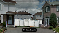 White PVC Fence 17×6ft with 2 gates, 55ft chainlink
