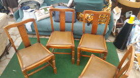 old chairs x4 working order i