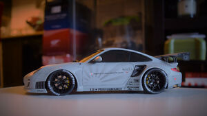 GT Spirit 1/18 Liberty Walk Porsche 911 (997) MATTE GREY