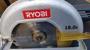 Ryobi One 18V Circular Saw  Bare tool only  Works great just don