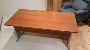 High end Cherry finish table-style desk 30x63 with leveling feet