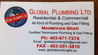 Licensed plumber/Gas Fitter @ affordable price call 4036717274