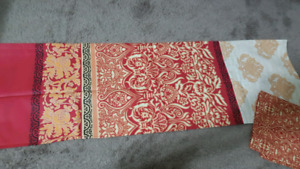 Two different design single bedsheets