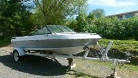 16 ft Malibu motor boat with Chevy 3.0L inboard/outboard motor.
