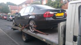 BMW 318i E90 black breaking full car