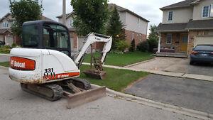 Bobcat Mini Excavator 331 Thumb