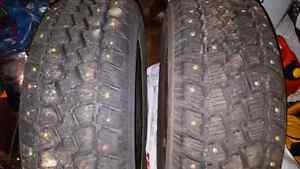 P195/65R15 (2 studded winter tires )