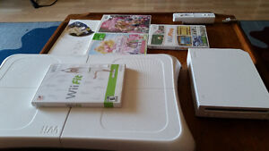 Nintendo wii package board and 5 games