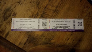 2 Tickets to Swan Lake Feb 3 - Grand Theatre