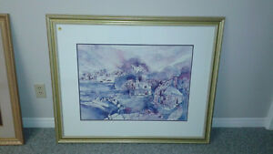 2 BEAUTIFUL FRAMED PICTURES IN EXCELLENT CONDITION London Ontario image 2