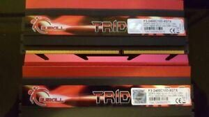G.SKILL TridentX 8GB (2x 4GB) DDR3 2400 Desktop ram with warrant