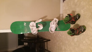 Snowboard, Bindings and Boots