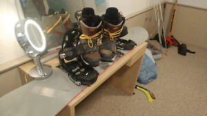 DC Snowboard and Boots (hot pink board/ Army canvas boots)
