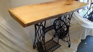 41 Inch Live Edge Singer side table Regina Regina Area image 2