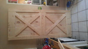 Sliding. Interior barn style doors
