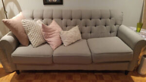 Classic three-seater apartment sized couch