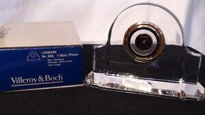 "Villeroy and Boch Crystal ""London Desk Clock"""