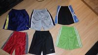 6 Pair of Name Brand Boys Shorts Size 4T in new condition