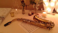 Live saxophone music for special events