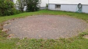Looking to get ground for pool even and level