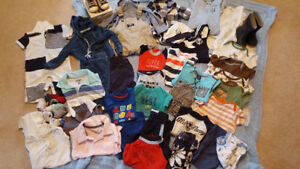 Baby boy sizes 6 and 9 month clothes lot