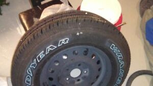 tire on rim brand new.. off a 2004 jeep cherokee 225/75/16