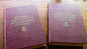 Britannica World Language Dictionary - 2 Volume - 1955-1956