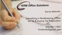 BOOKKEEPING & INCOME TAX PREPARATION SERVICES