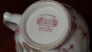 China Pitcher - Rose Chintz (Made in England by Johnson Bros) Windsor Region Ontario image 2