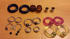 Various Piercing Jewelry - Ear Stretching, Surgical Steel etc Edmonton Edmonton Area image 1