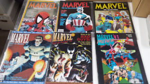 Marvel Year in review magazine X-Men, Venom, Deadpool, Punisher