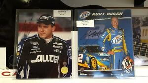 Autographed 8x10 Photo RYAN NEWMAN or KURT BUSCH Nascar