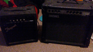 2 guitar amps + patch cord $60 for both