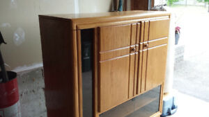 Oak Cabinet with room for TV, audio video equipment