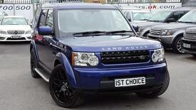2010 LAND ROVER DISCOVERY 4 TDV6 GS BALI BLUE BLACK LEATHER BLACK STYLING P