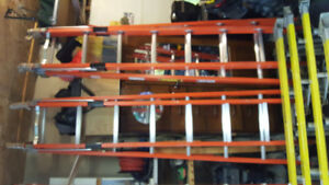 Werner Fiber Glass Ladders 20',  and 28'