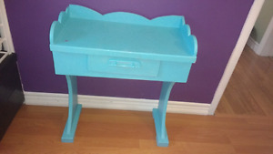 Small Turquoise Vanity Table