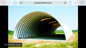 NEW --Metal Quonset 40 x 40 building