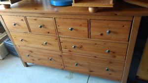 SOLID PINE ; DRESSER - SINGLE BED WITH HB AND FB - NIGHT TABLE -