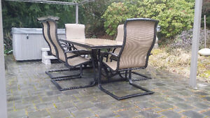7-piece Dining Set - Bronze - $300 (North Saanich)