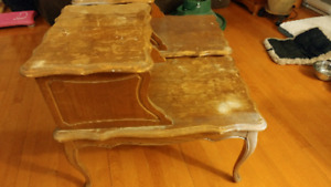 Solid wood end tables $50