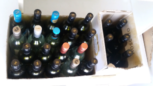 Empty glass wine bottles 30 FREE - use for sauces/craft/storage
