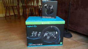 Logitech G920 Force Racing Wheel, Pedals, and Shifter