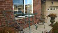 Bar height table and two chairs FREE