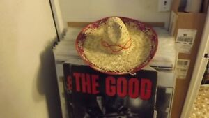 AUTHENTIC MEXICAN SOMBRERO STRAW HAT/UNISEX