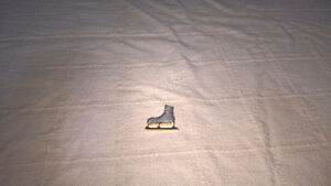 Silver and Gold Figure Skate Pin