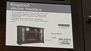 Electric fireplace with remote controp
