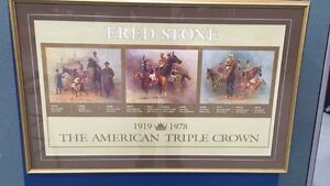 Fred Stone 1919-1978 American Triple Crown Winners Framed Print