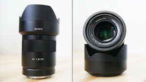 Sony Zeiss Sonnar T* 55 1.8 ZA (FE) prime lens for a7 series